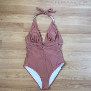 CUPSHE || One-Piece O-Ring Halter Bathing Suit